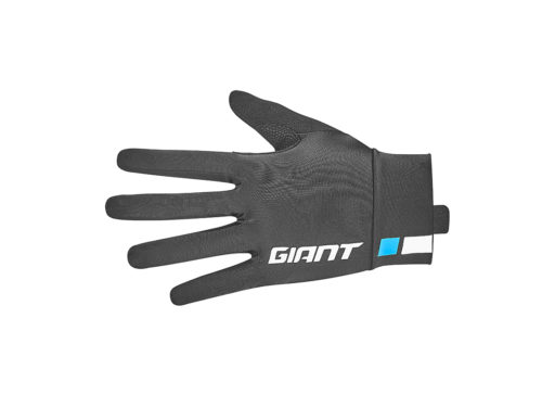 Race day long finger gloves black front