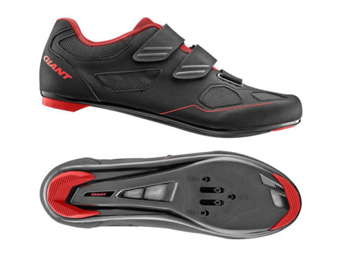 Giant bolt road shoe black red profile view